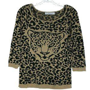 Cotton Emporium Animal Leopard 3/4 Sleeve Medium